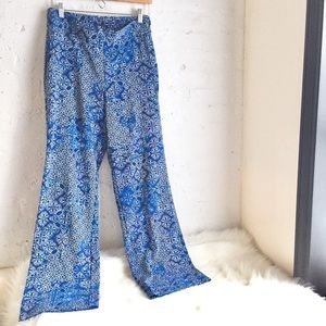 Banana Republic blue printed boho pants